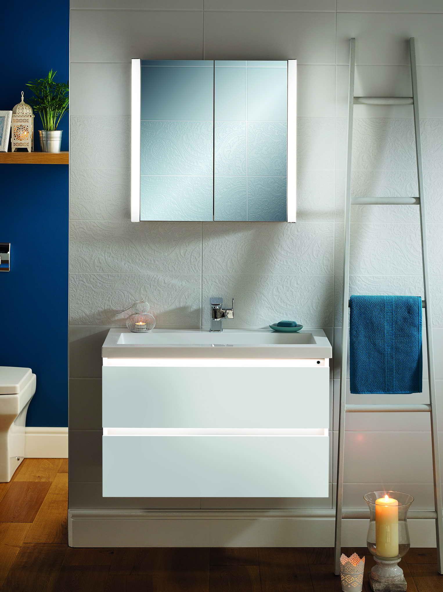 Jura Mirror Cabinets 600 Wide In 3 Colours Bath Giant