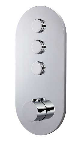 DORNOCH 4 PORT / TRIPLE FLOW CONCEALED SHOWER VALVE