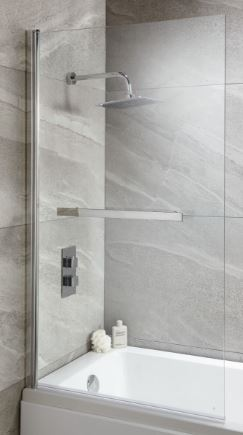 ELIE SQUARE PROFILE OVER BATH SHOWERSCREEN