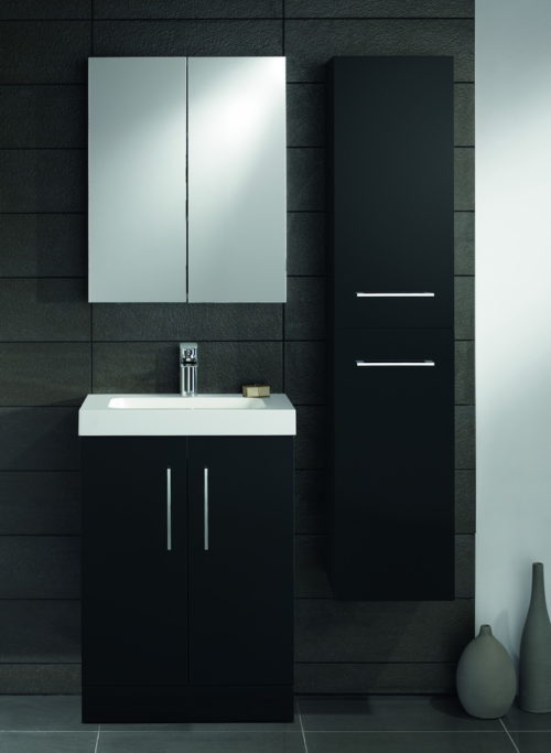 LOMOND 600 FLOOR STANDING VANITY UNIT, BASIN & 1600 TALLBOY UNIT