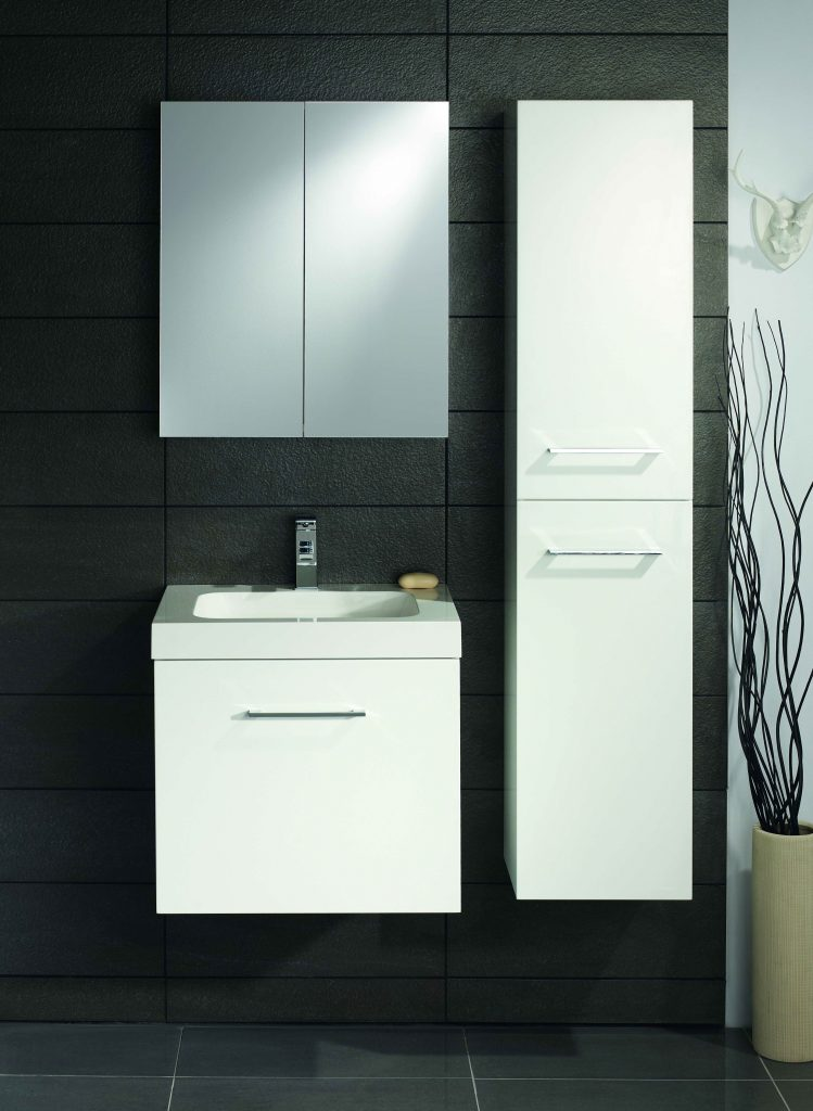 Lomond 600 Wall Hung 1 Drawer Vanity Unit And Basin In 4