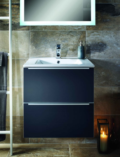 TALLA 600MM 2 WALL HUNG DRAWER UNIT AND BASIN