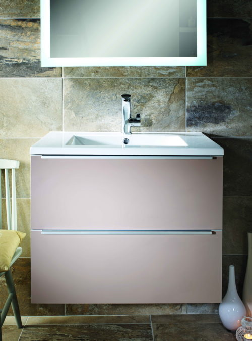 TALLA 750MM 2 DRAWER WALL HUNG UNIT AND RESIN BASIN