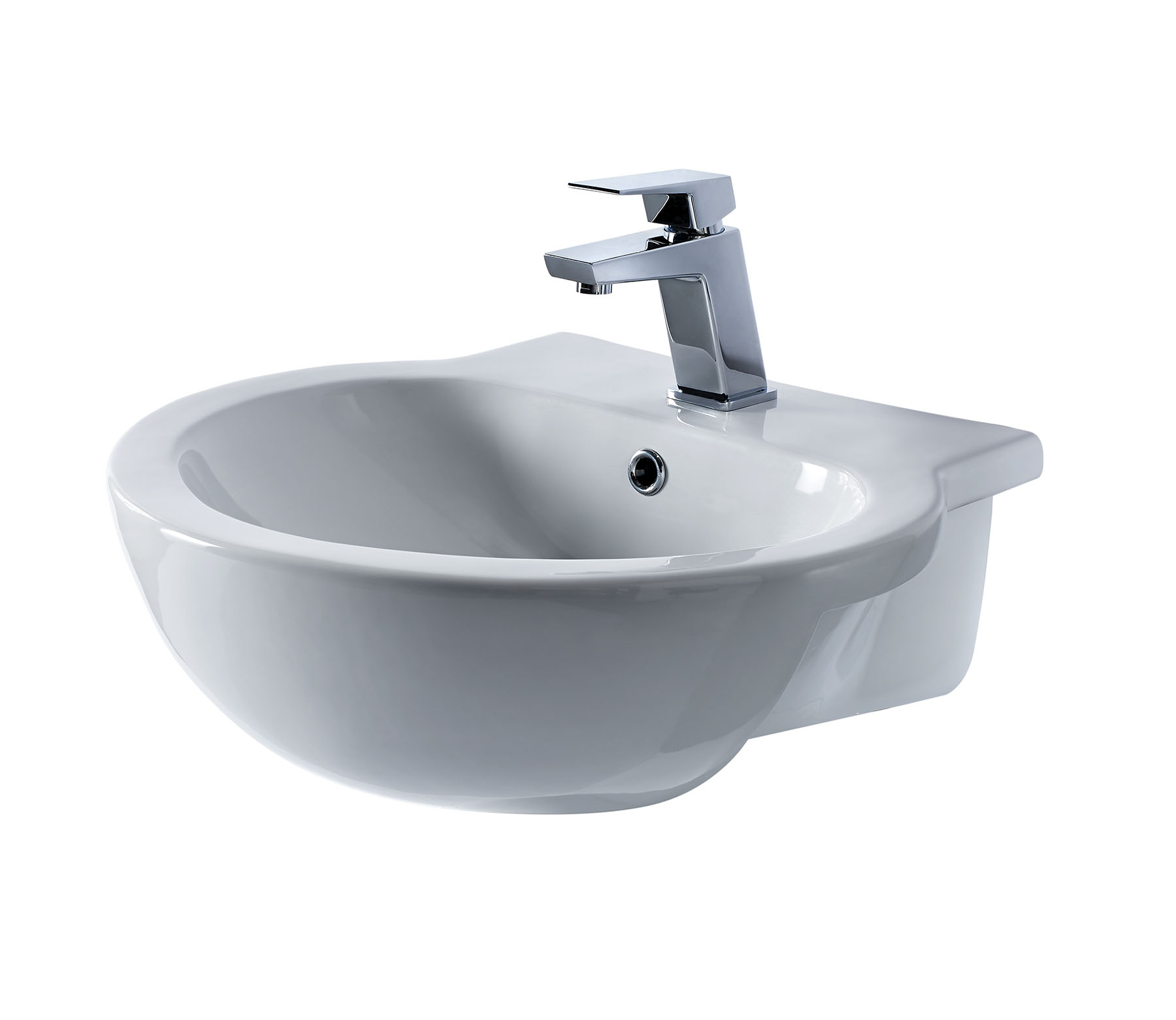 Braemar Semi Recessed Basin Bath Giant