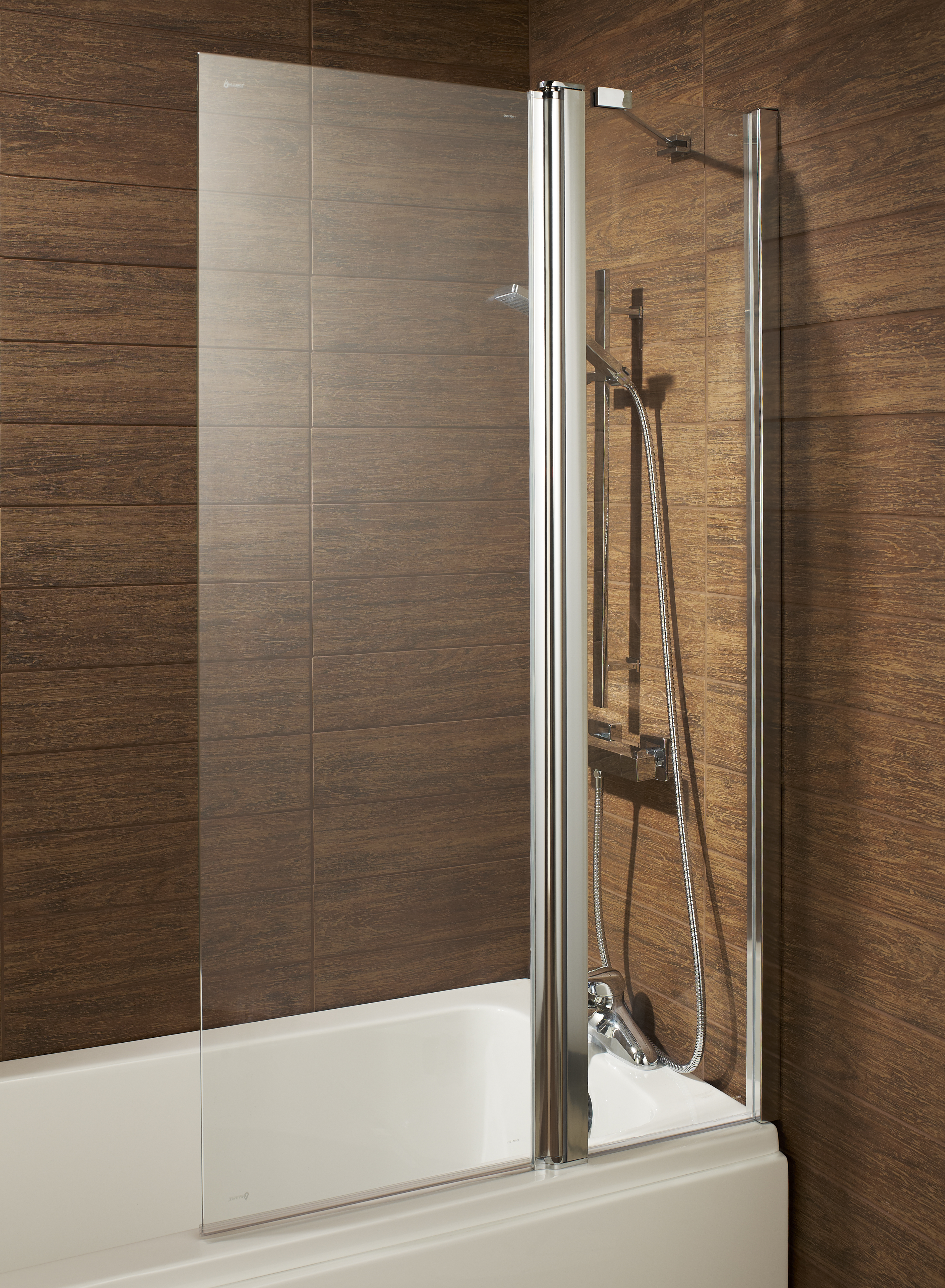 esk double folding over bath shower screen bath giant. Black Bedroom Furniture Sets. Home Design Ideas