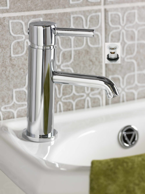 ELGIN CLOAKROOM MONO BASIN MIXER WITH SLOTTED PUSH WASTE