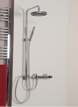 ESK OVERHEAD MINIMALIST SHOWER KIT & HAND SHOWER