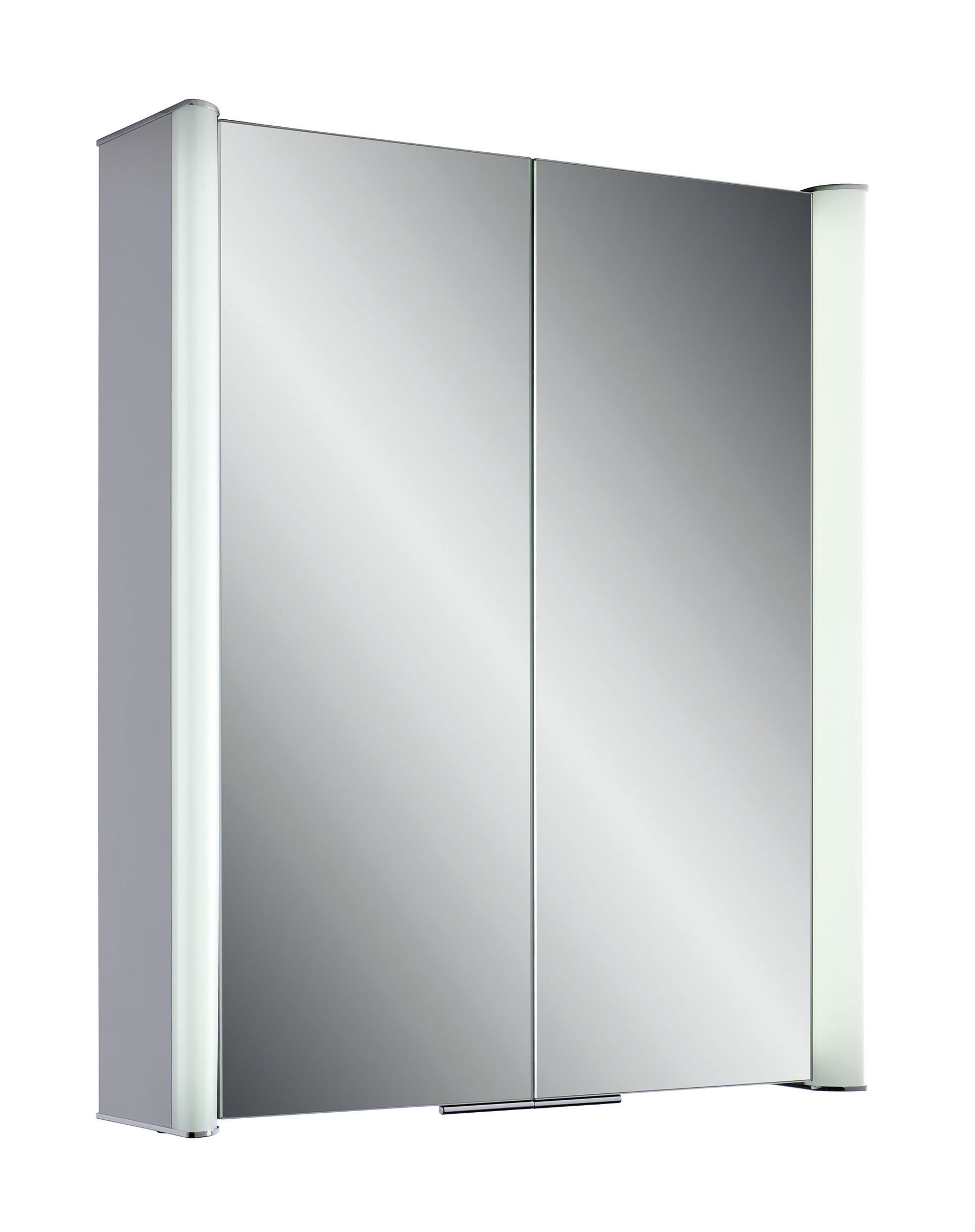 IONA 620mm LED ALUMINIUM 2 DOOR CABINET