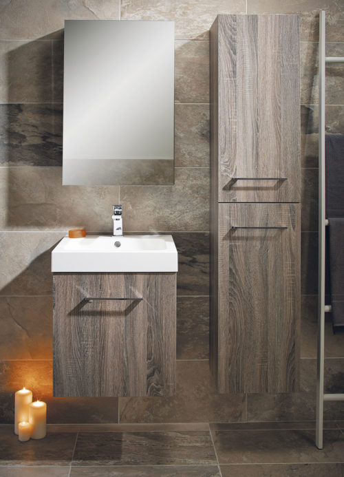 LOMOND 500 WALL HUNG VANITY UNIT, BASIN & 1600 TALLBOY UNIT