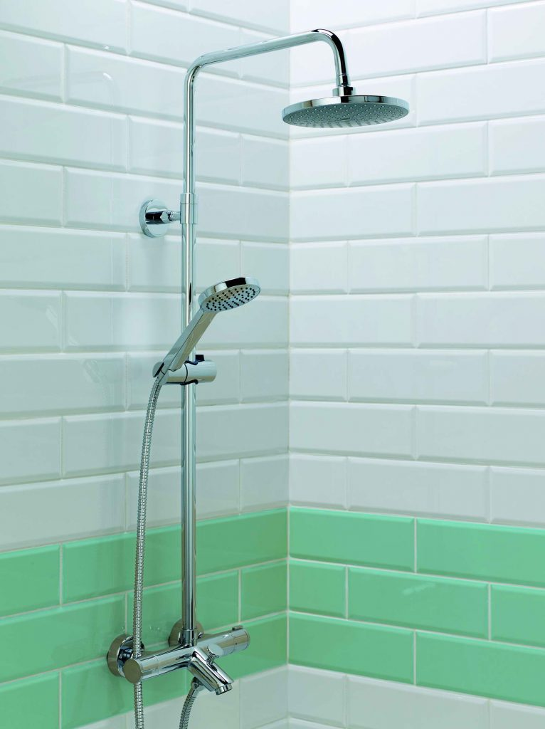 Stroma Thermo Bath Shower Mixer Amp Round Head With Fixed