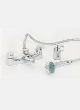 BARRA DECK MOUNTED BATH SHOWER MIXER & SHOWER KIT