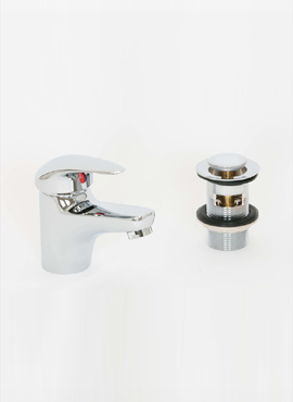 BARRA MONO BASIN MIXER & SLOTTED PUSH WASTE