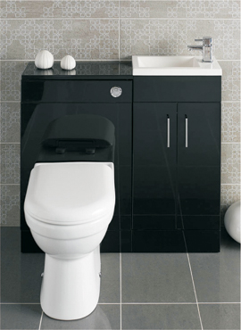 LOMOND 400 BASIN AND BACK TO WALL WC COMBINATION SET