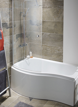 Elgin 1500 P Shaped Bath Package Shower Screen And Panels