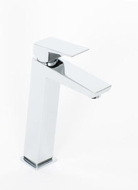 AROS TALL MONO BASIN MIXER & PUSH WASTE