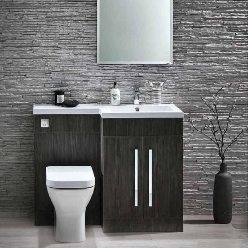 L 1100 L Shape Furniture Pack Avola Grey Bath Giant