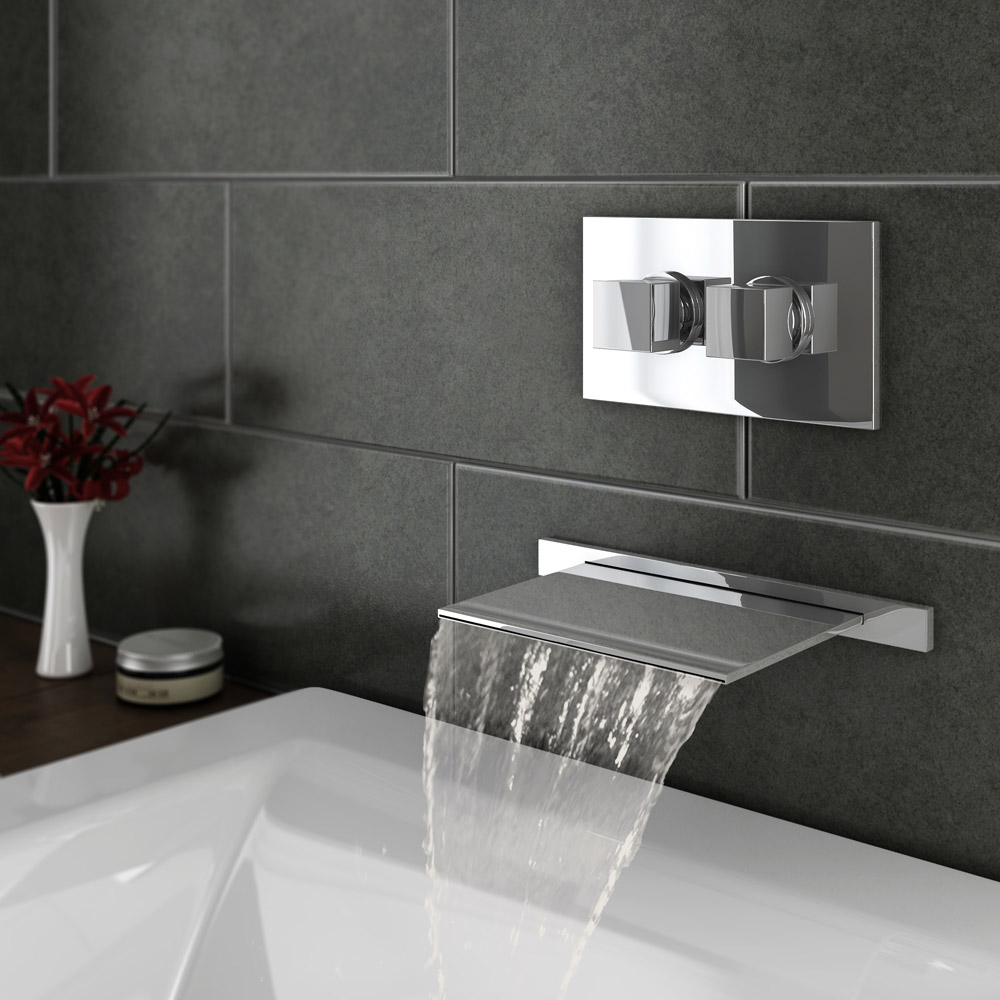 Waterfall Bath Filler Shower Head Bath Giant